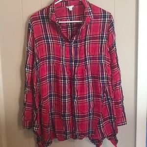 NWOT Cato Flannel Tunic Size XL